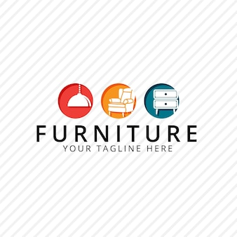 Logotipo de móveis com móveis
