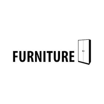 Logotipo de móveis com símbolo de armário