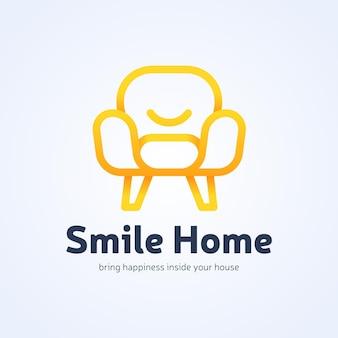Logotipo de móveis dourados