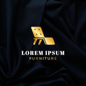 Logotipo de móveis elegantes