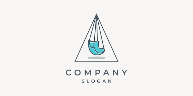 Logotipo de móveis para casa com elementos minimalistas