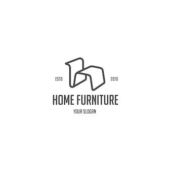 Logotipo de móveis para casa