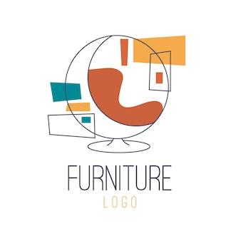 Logotipo de móveis retrô