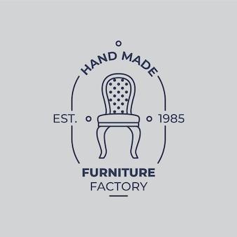 Logotipo de móveis vintage