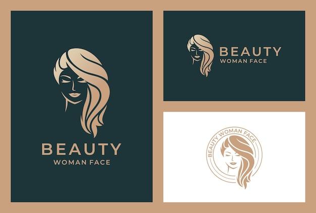 Logotipo de mulher elegante e bela