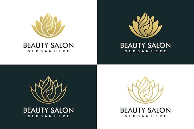 Logotipo de mulheres de beleza abstrata de luxo