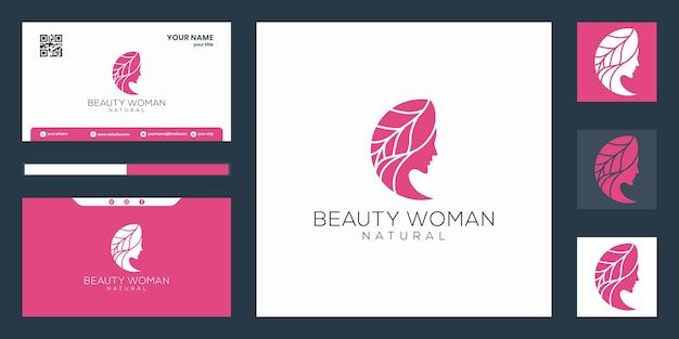 Logotipo de mulheres de beleza