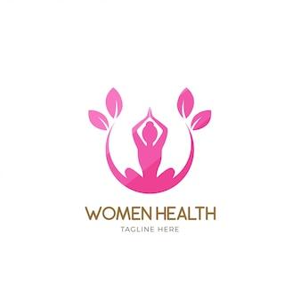 Logotipo de mulheres saudáveis