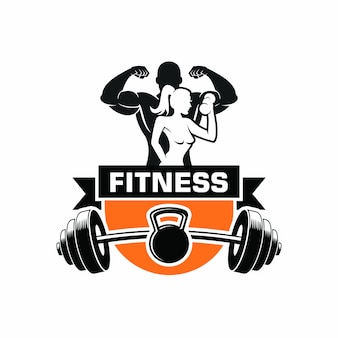 Logotipo de musculação