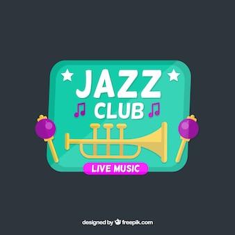 Logotipo de música com trompete
