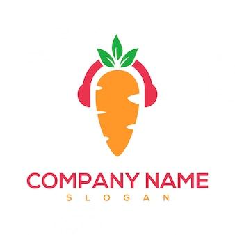 Logotipo de música de cenoura