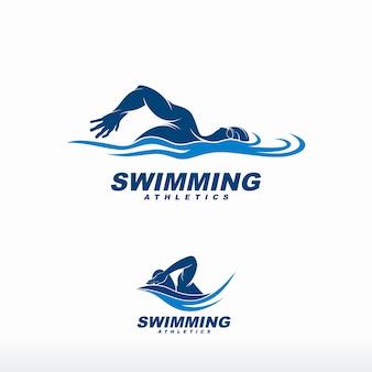 Logotipo de natação