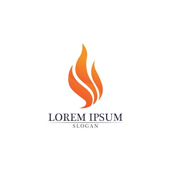 Logotipo de natureza chama fogo