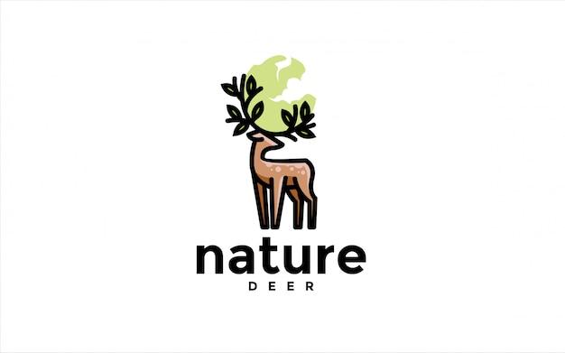 Logotipo de natureza veado