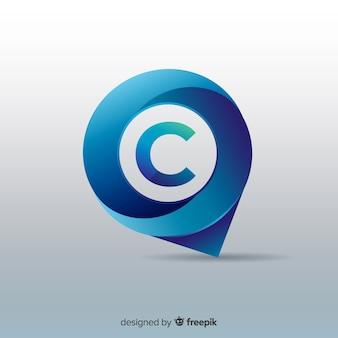 Logotipo de negócio abstrato arredondado gradiente