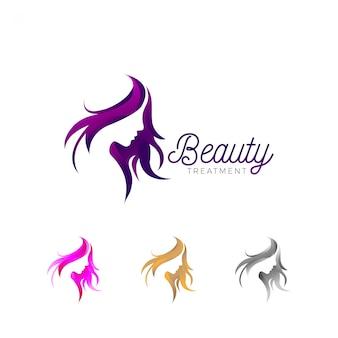 Logotipo de negócios de tratamento de beleza