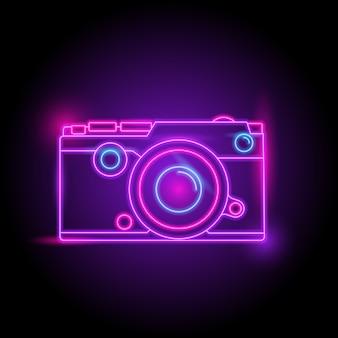 Logotipo de néon da câmera