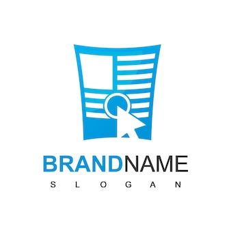 Logotipo de notícias online para empresa de jornalismo