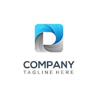 Logotipo de obturador de fotografia
