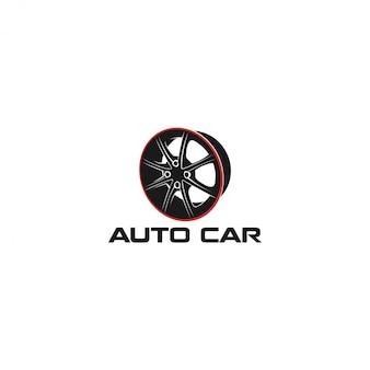 Logotipo de oficina de carro automotivo