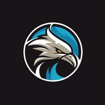Logotipo de olhar completo de cor de águia