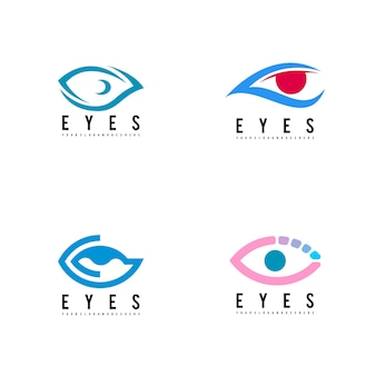 Logotipo de olhos defina vetor