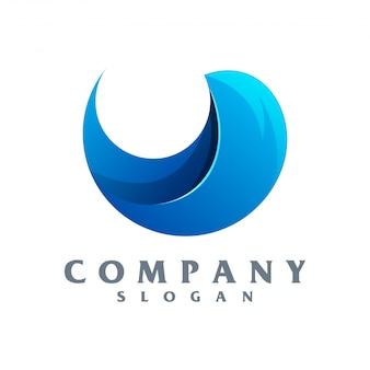 Logotipo de onda vector pronto para uso
