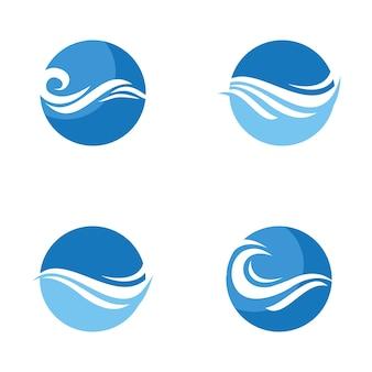 Logotipo de ondas de baleia