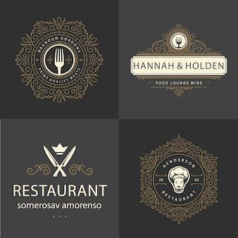 Logotipo de ornamento de restaurante