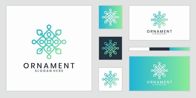 Logotipo de ornamento luxuoso que inspira.