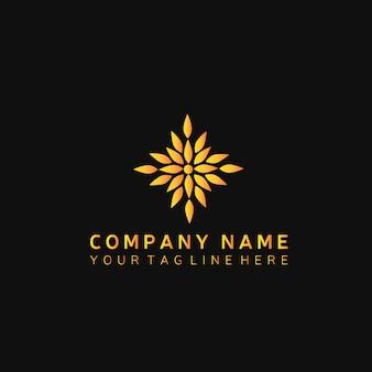 Logotipo de ouro de luxo