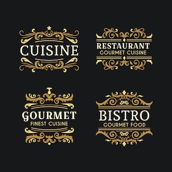 Logotipo de padaria com design retro