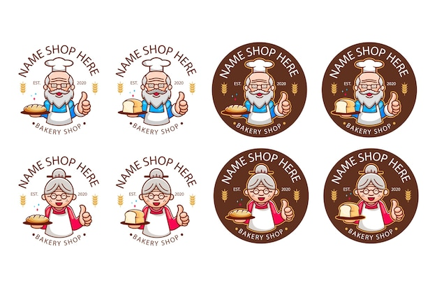 Logotipo de padaria lendário