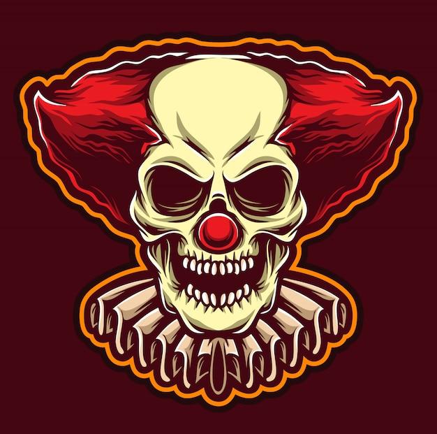 Logotipo de palhaço assustador