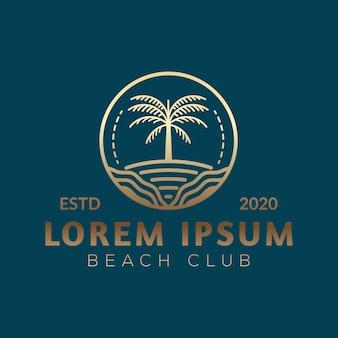 Logotipo de palmeira de luxo