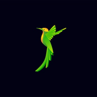 Logotipo de pássaro colorido pronto para uso