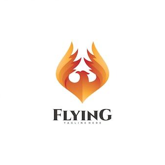 Logotipo de pássaro de fogo