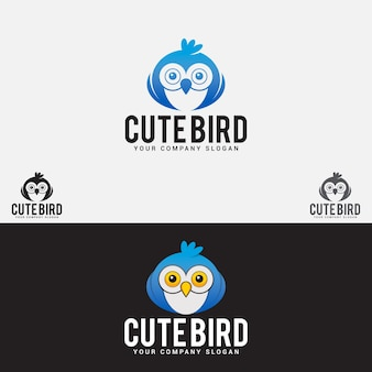 Logotipo de pássaro fofo