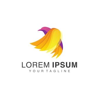 Logotipo de pássaro gradiente