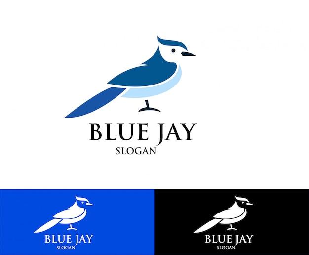 Logotipo de pássaro jay azul s