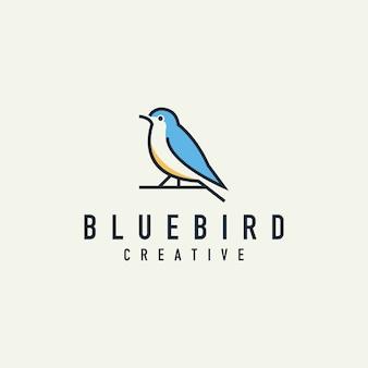 Logotipo de pássaro minimalista