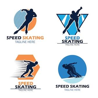 Logotipo de patinação de velocidade