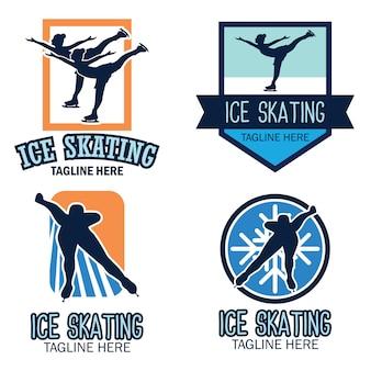 Logotipo de patinação no gelo