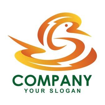 Logotipo de pato relâmpago