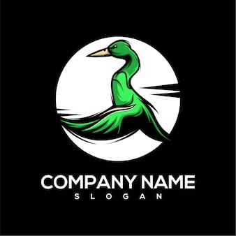 Logotipo de patos voando