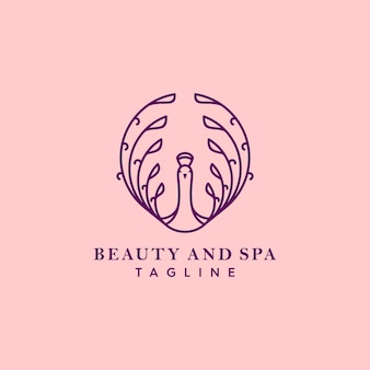 Logotipo de pavão roxo