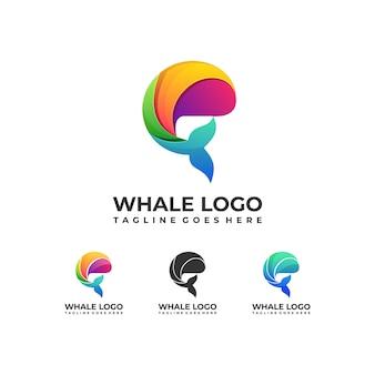 Logotipo de peixe colorido design