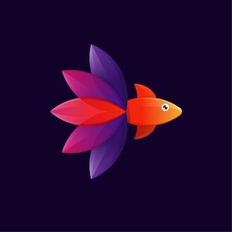 Logotipo de peixe colorido