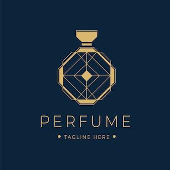 Logotipo de perfume de luxo com garrafa