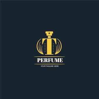 Logotipo de perfume de luxo dourado